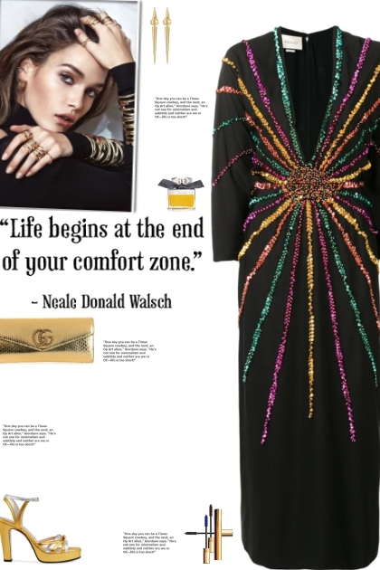 How to wear a Multicolor Sequin Embellished Dress!