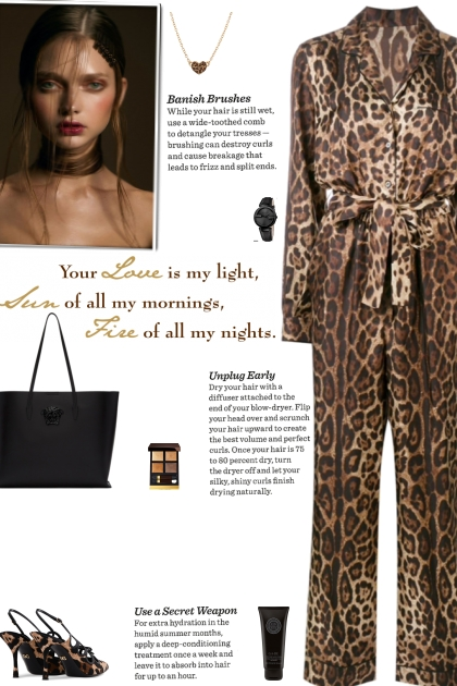 How to wear a Leopard Print Long Sleeve Jumpsuit!