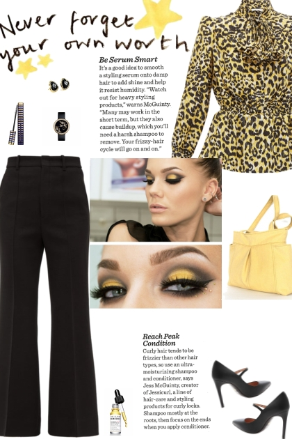 How to wear an Oversized Plisse Bow Blouse!