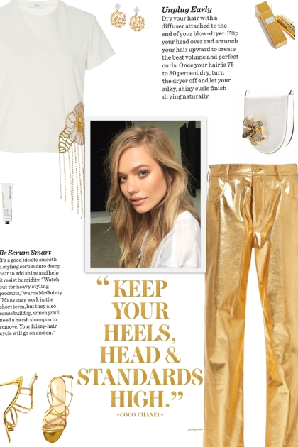 How to wear Skinny-Leg Lame Gold Trousers!