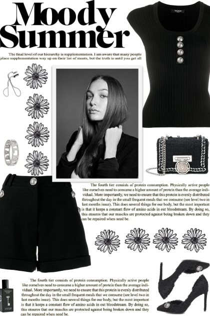 How to wear a Co-Ord Silver Button Embellish Set!