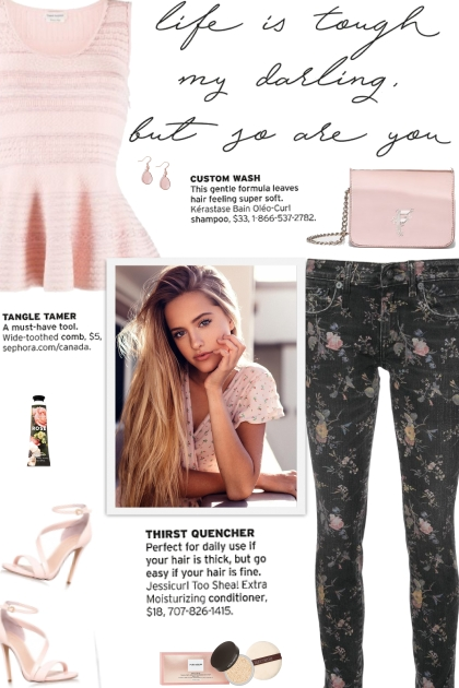 How to wear a Low Rise Floral Print Denim Jeans!