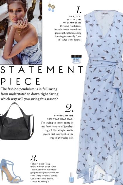 How to wear a Floral Print Wrap Asymmetric Dress!