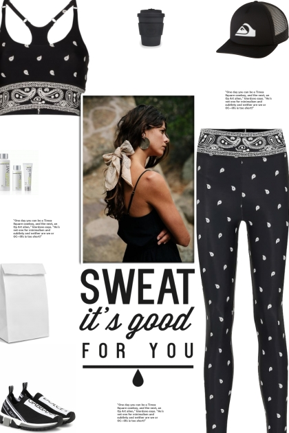 How to wear a Co-Ord Paisley Print Activewear Set!