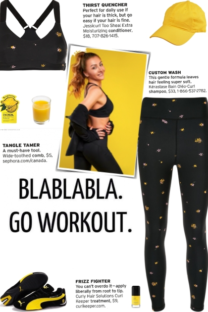 How to wear a Co-Ord Floral Print Activewear Set!