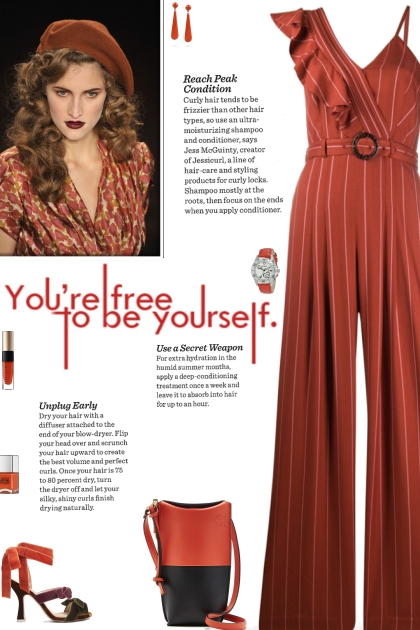 How to wear a Ruffled Trim Striped Jumpsuit!