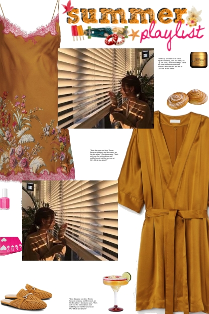 How to wear a Silk Floral Print Nightdress!