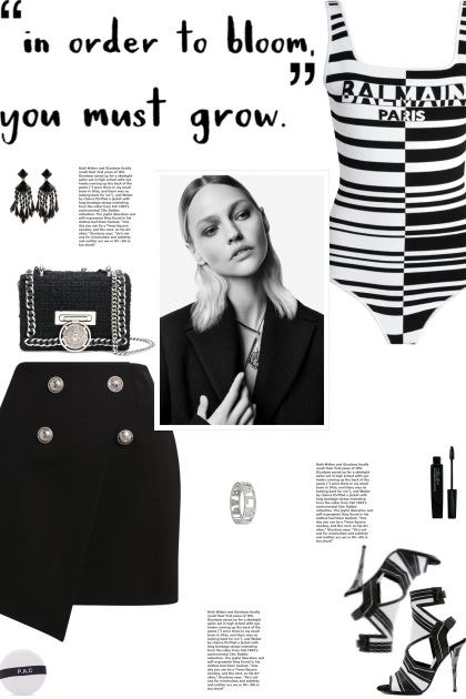 How to wear a Striped Logo Monochromatic Bodysuit!