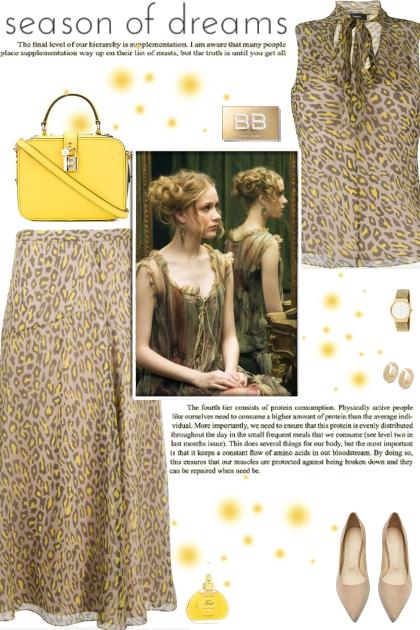 How to wear a Leopard Print Silk Skirt Set!