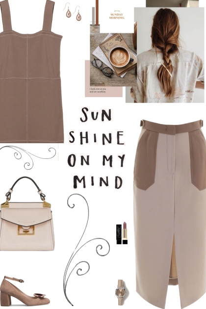 How to wear a Contrast Front Slit Pencil Skirt!