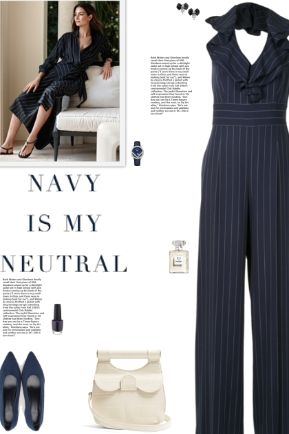 How to wear a Pinstripe Ruffle V-Neck Jumpsuit!