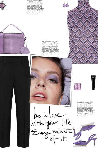 How to wear a High Neck Abstract Knit Top!