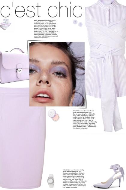 How to wear a Striped Belt Sleeveless Shirt!