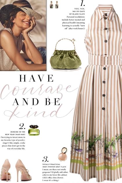 How to wear a Striped Backless Midi Shirtdress!
