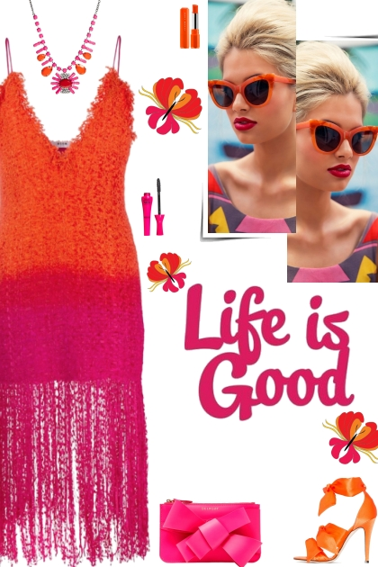 How to wear a Color Block Fringe Midi Dress!