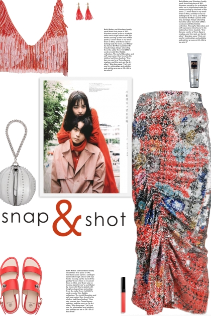 How to wear a Multicolor Smock Sequin Midi Skirt!