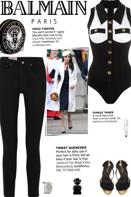 How to wear a Two-Toned Collar Bodysuit!