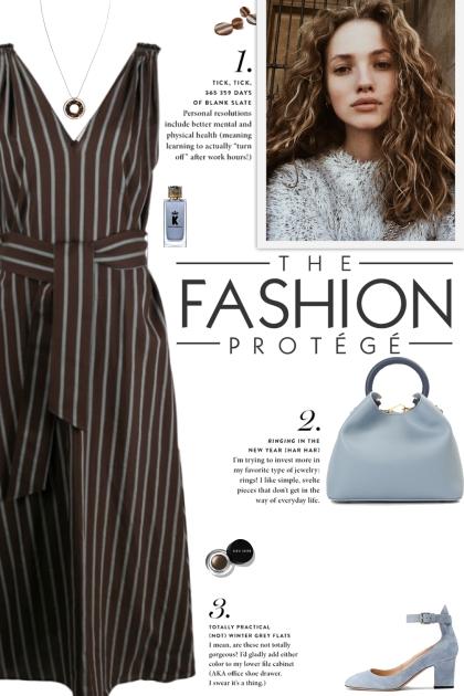How to wear a Stripe Belt Sleeveless Midi Dress!
