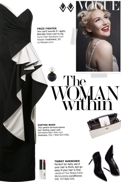 How to wear a Side Peplum Strapless Gown!