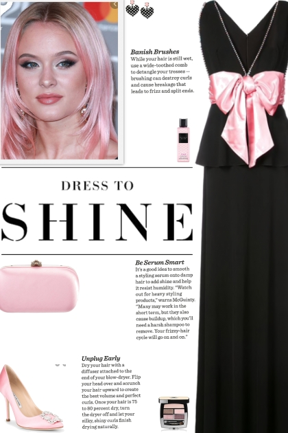 How to wear a Bow Detail Empire Neckline Gown!