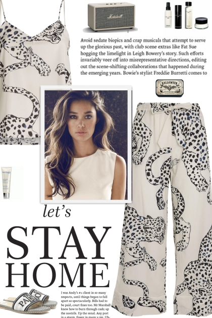 How to wear an Animal Print Pajama Set!