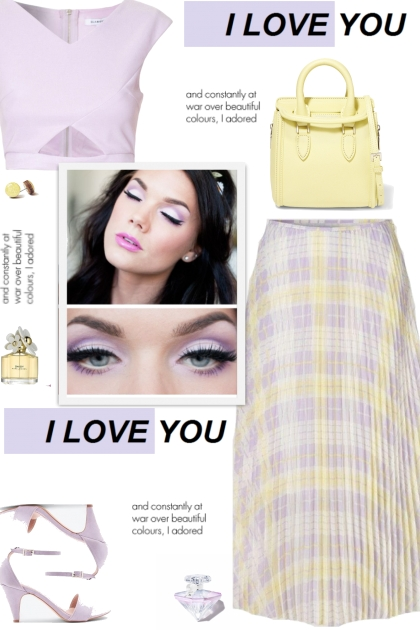 How to wear a Pastel Pleated Check Midi Skirt!