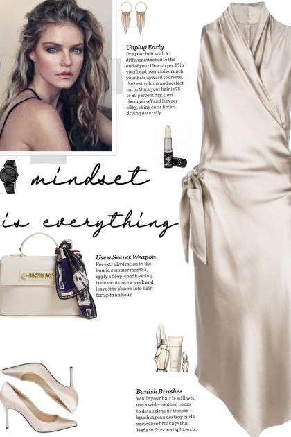 How to wear an Asymmetric Hem Silk Wrap Dress!