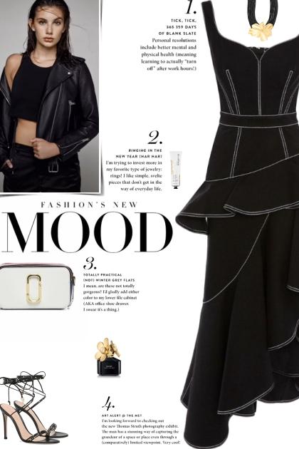 How to wear a Peplum Denim Midi Dress!- Modna kombinacija