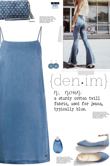 How to wear an Oversized Mid Wash Denim Dress!