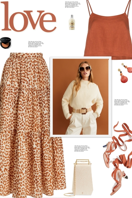 How to wear an Animal Print Silk Midi Skirt!