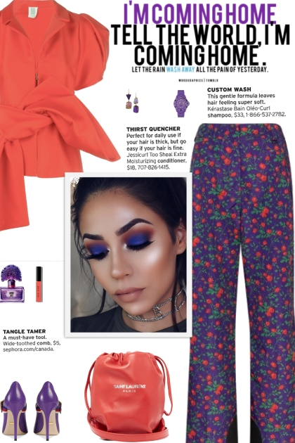 How to wear a Floral Flared Hem Trousers!