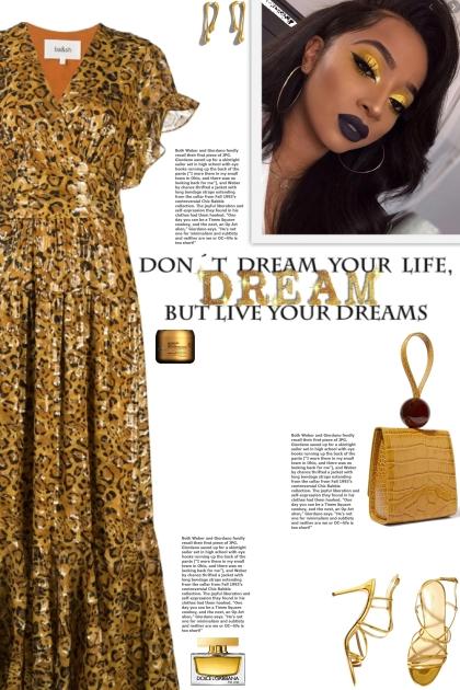 How to wear a Leopard Jacquard Metallic Dress!