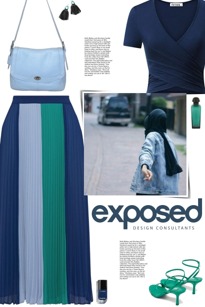 How to wear a Colorblock Pleated Crepe Midi Skirt!