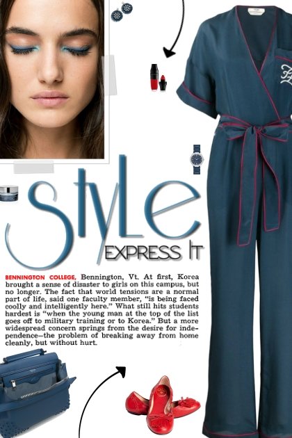 How to wear a Belted Kaligraphy Jumpsuit!- Fashion set