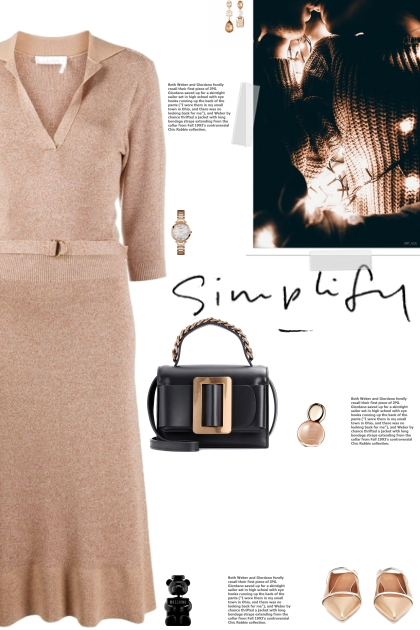 How to wear a Spread Collar V-Neck Knit Dress!