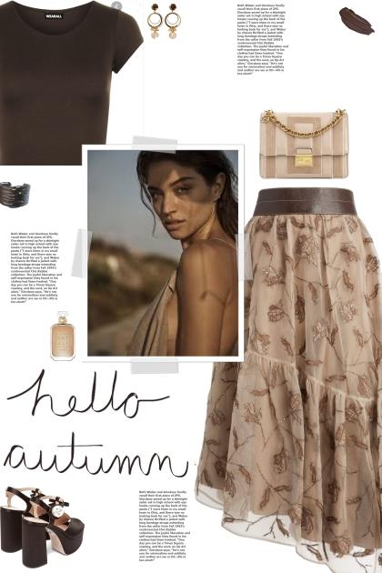 How to wear an Asymmetric Hem Floral Midi Skirt!