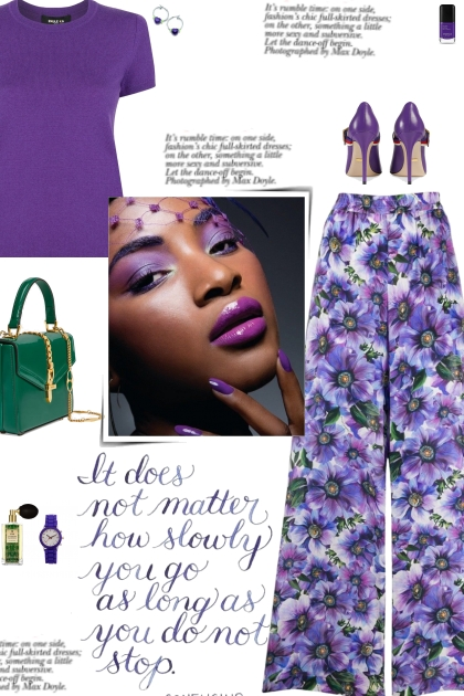 How to wear a Floral Print Wide Leg Palazzo Pants!- Combinaciónde moda