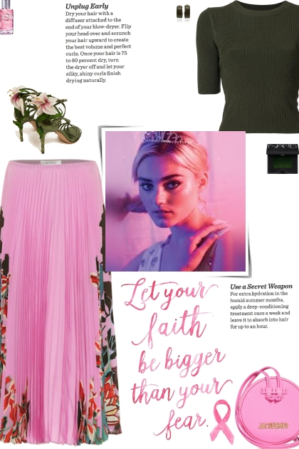 How to wear a Floral Silk Pleated Midi Skirt!