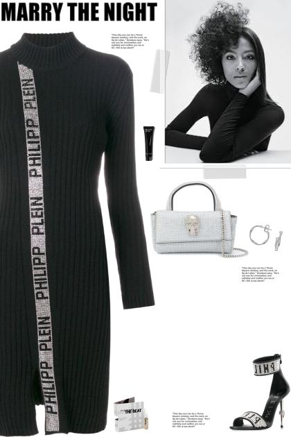 How to wear a Funnel Neck Metallic Trim Dress!