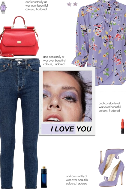 How to wear a Floral Neck Tie 3/4 Sleeve Top!