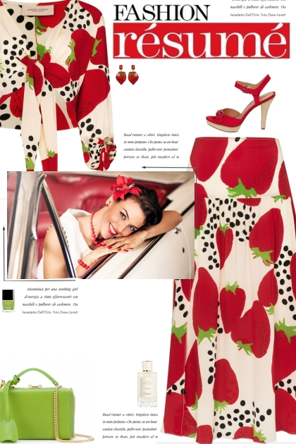 How to wear a Co-Ord Strawberry Print Skirt Set!