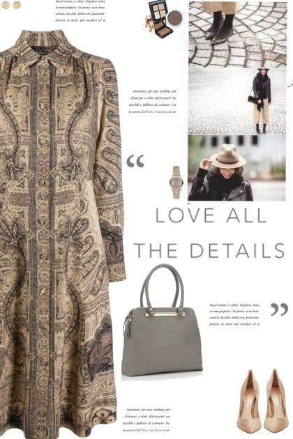 How to wear a Paisley-Print Long Sleeve Dress!