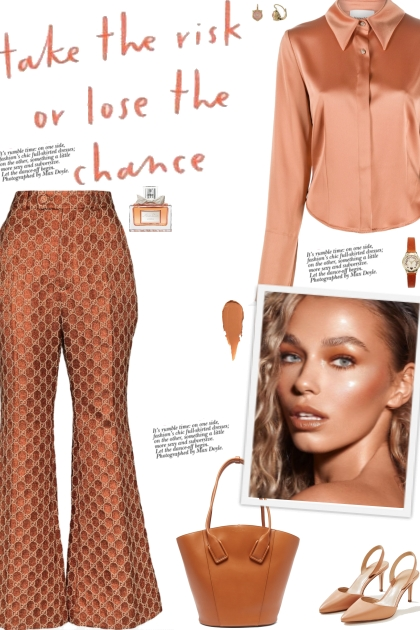 How to wear a Monogram Flared Trousers!