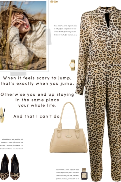 How to wear an Animal Print Long Sleeve Jumpsuit!