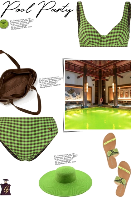 How to wear a Co-Ord Gingham Underwire Bikini Set!