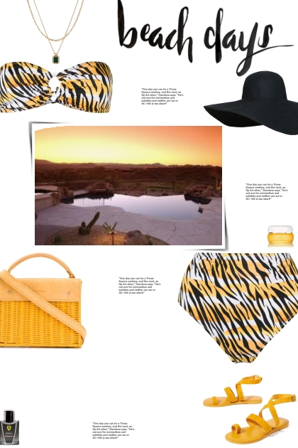 How to wear a Co-Ord Tiger Print Bikini Set!