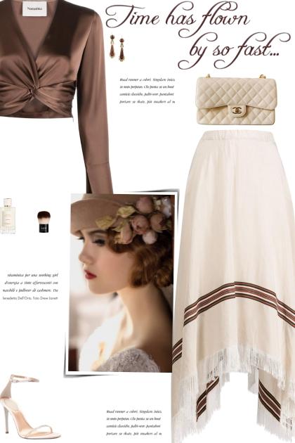 How to wear a Draped Fringed Flared Midi Skirt!