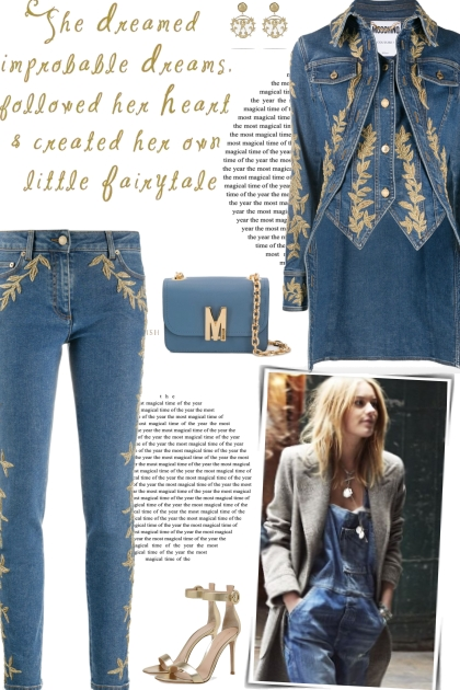 How to wear a Co-Ord Brocade Detail Denim Set!