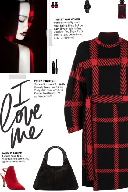 How to wear a Check-Print Belted Oversized Dress!