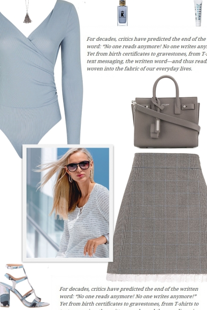 How to wear a Houndstooth Lace-Trim Mini Skirt!